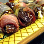 Bacon Wrapped Dates Stuffed With Gorgonzola Cheese