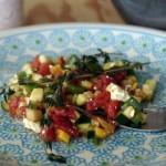 Summer Garden Salad with Bleu Cheese and Balsamic Vinaigrette