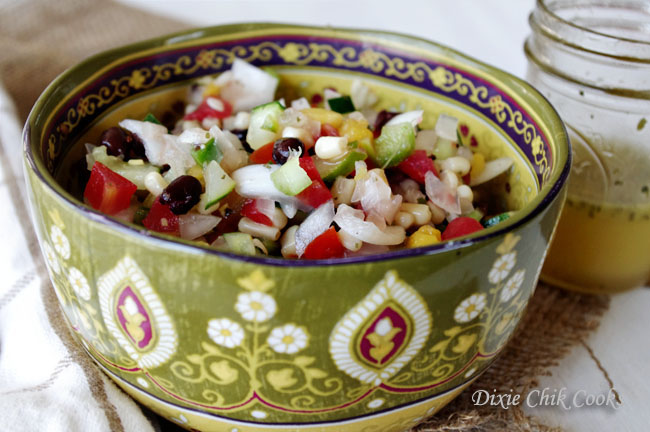 Mexican Confetti Salad with Honey Lime Vinaigrette