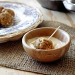 Blue Cheese Salmon Meatballs with Creamy Sriracha Dipping Sauce