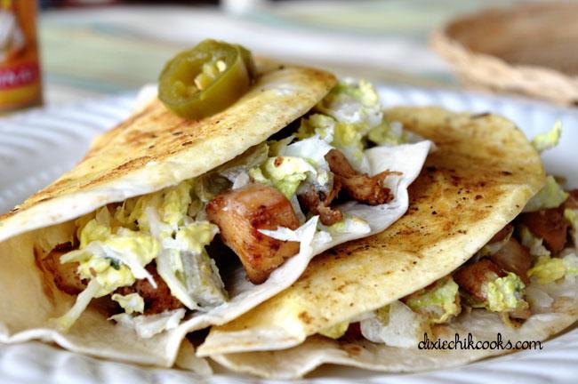 Crispy Chicken Tacos with Jalapeno Slaw
