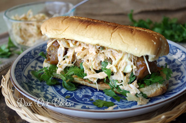 Asian Meatball Sub | Dixie Chik Cooks