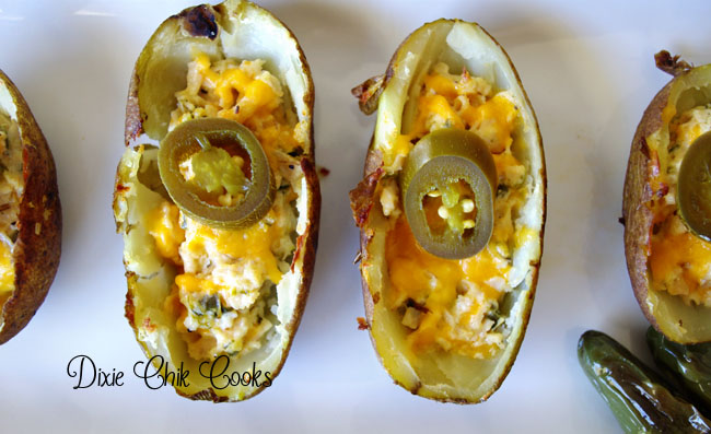 Jalapeno Popper Chicken Potato Skins
