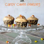 Vanilla Cupcakes with Candy Corn Frosting