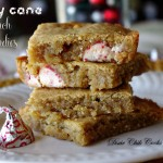Candy Cane Crunch Blondies