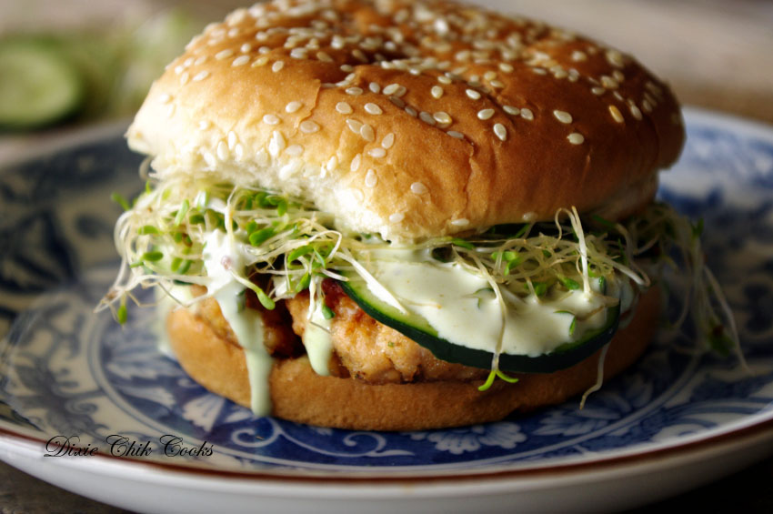 California Roll Burger | Dixie Chik Cooks
