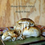 Cheesy Chicken Salad Stuffed Buns