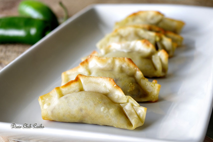 Jalapeno Popper Wontons with Two Dipping Sauces | Dixie Chik Cooks