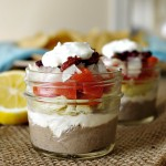 Individual 7 Layer Greek Dip Jars