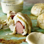 Pretzel Dogs with Dijon Pepperjack Sauce