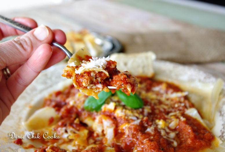 Italian Sausage Ravioli With Tomato Butter Sauce