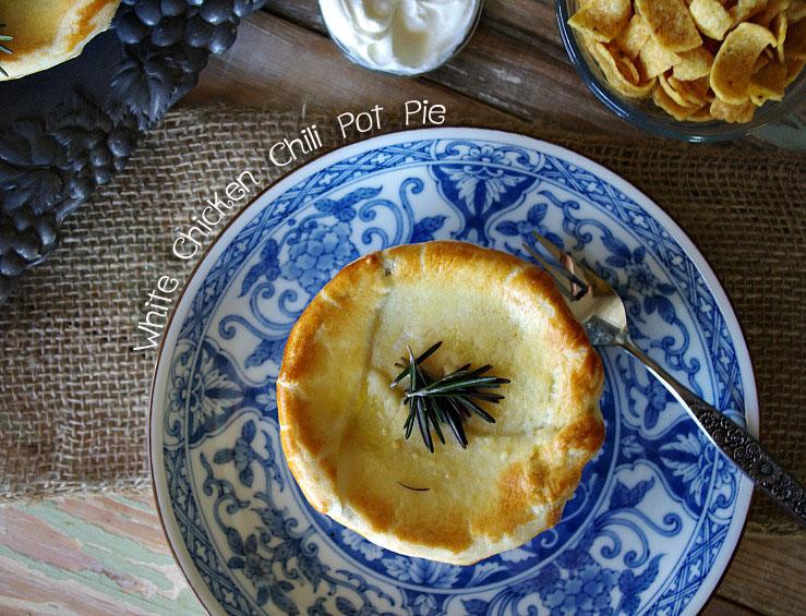 White Chicken Chili Pot Pie