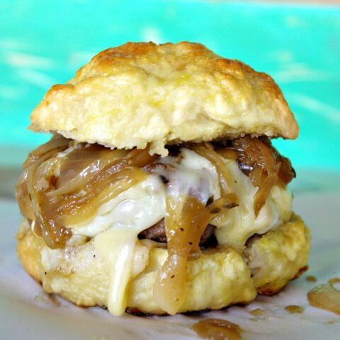 French Onion Fontina Burger