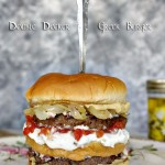 Double Decker Greek Burger
