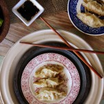 Salmon Dumplings with Key Lime Sesame Dipping Sauce
