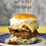 Surf and Turf Cheeseburger with Jalapeno Mayo