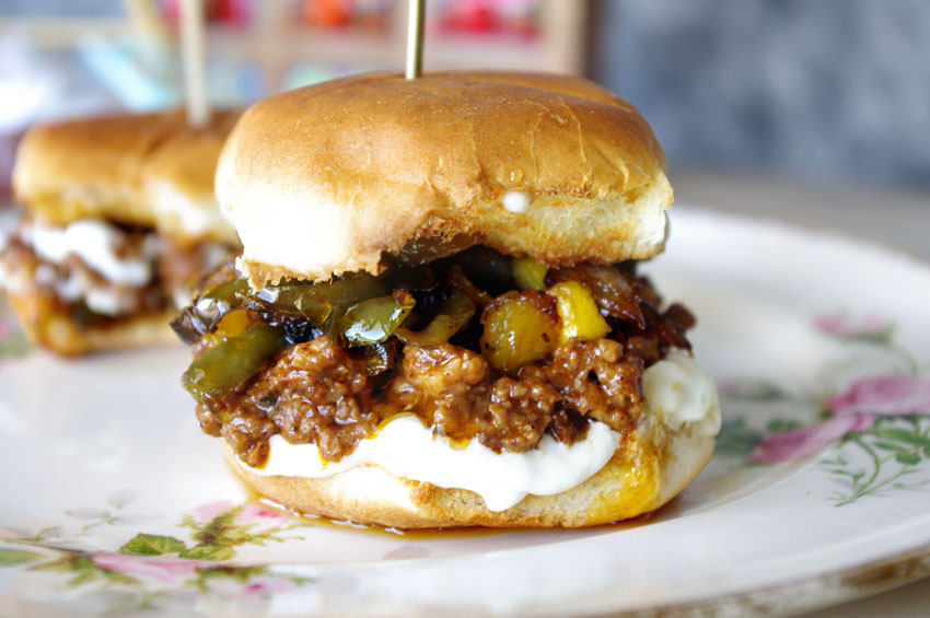 Mango Jalapeno Sloppy Joe Sliders