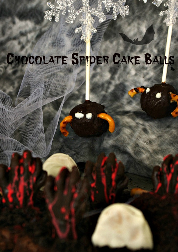 Chocolate Spider Cake Balls