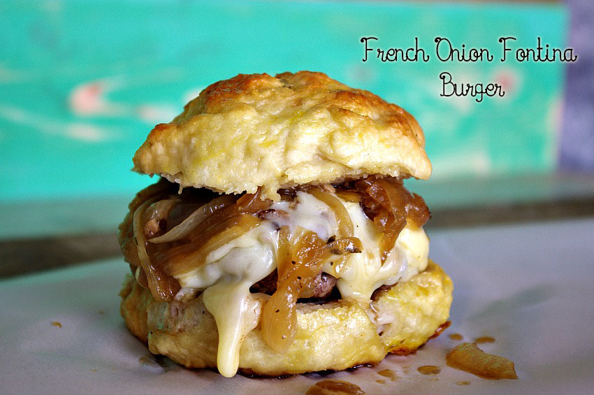 French Onion Fontina Burger