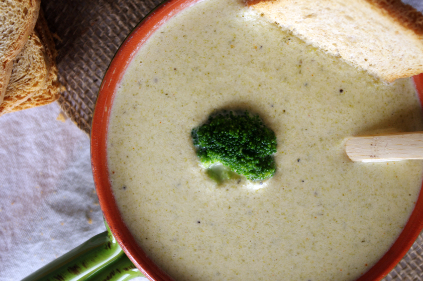 Broccoli Cheese Soup   Dixie Chik Cooks