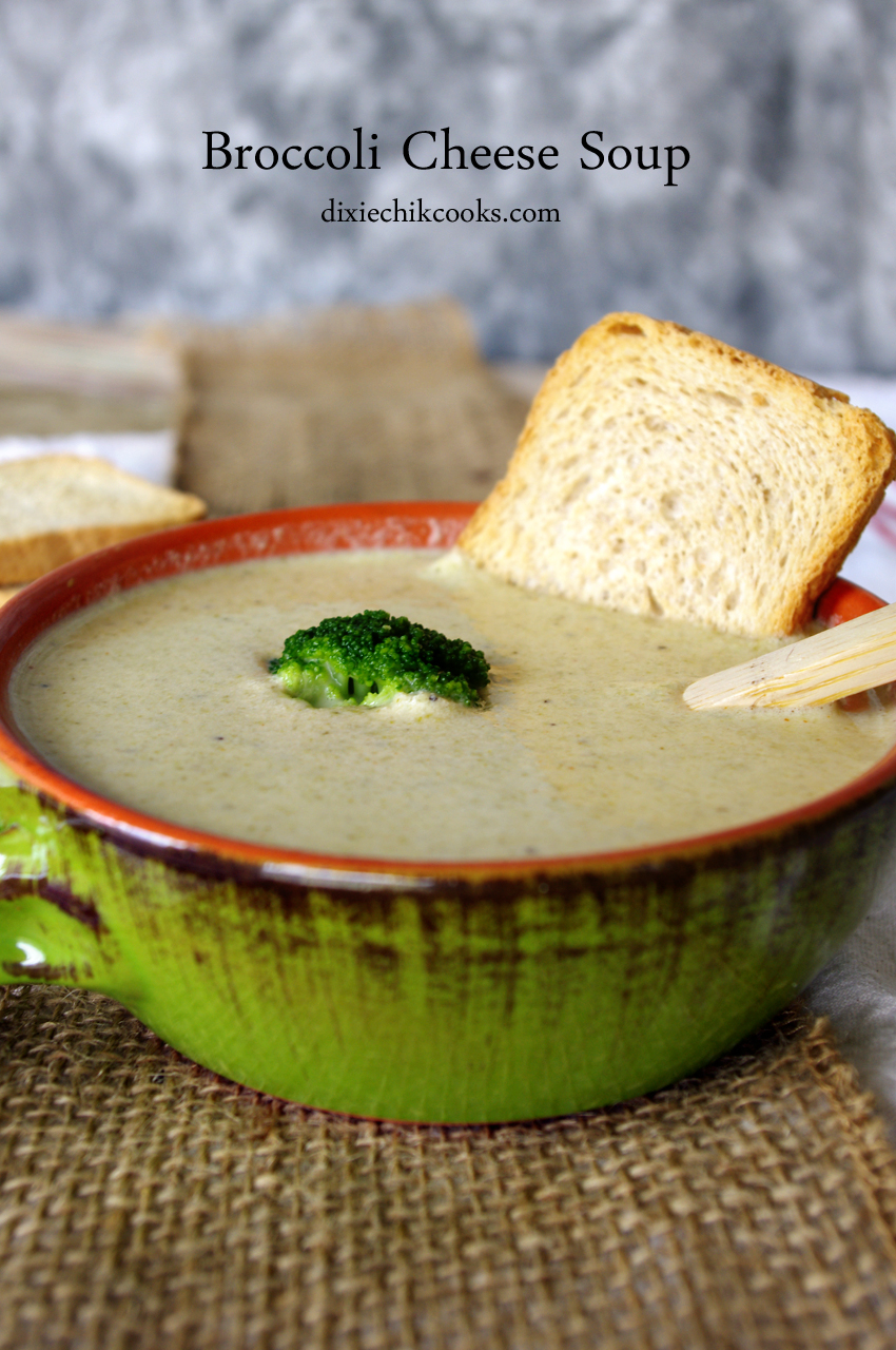 Broccoli Cheese Soup | Dixie Chik Cooks