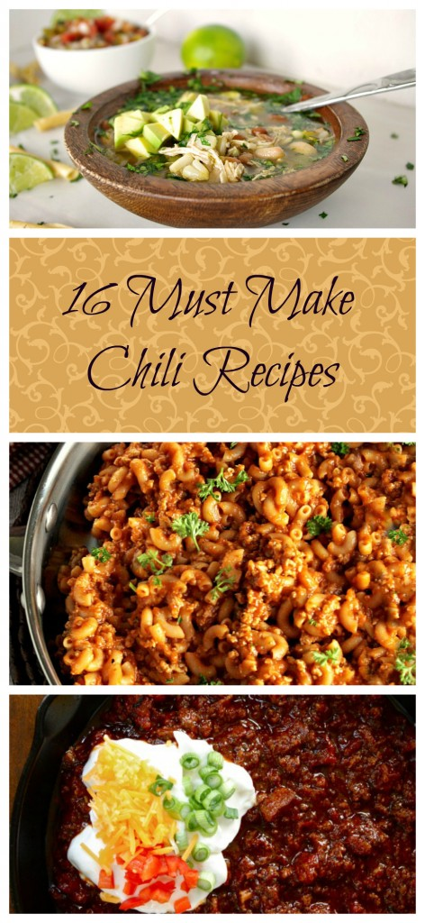 16 Must Make Chili Recipes