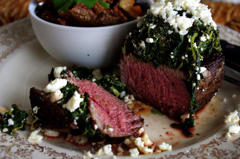 Feta Spinach Steak