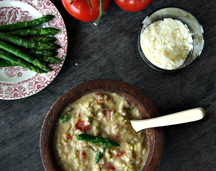 Asparagus Tomato Parmesan Soup