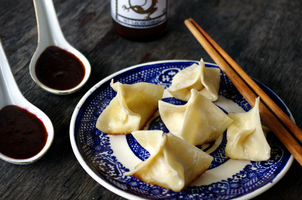 Cream Cheese White Cheddar Wontons