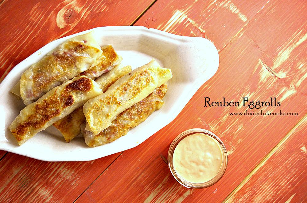 Reuben Eggrolls   Dixie Chik Cooks