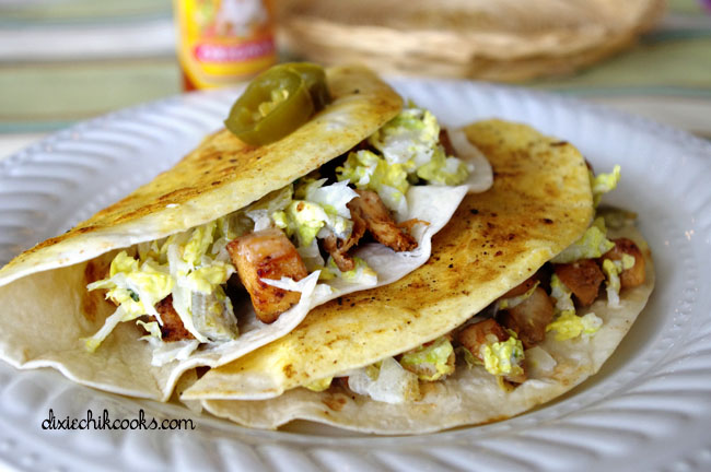 Crispy Chicken Tacos | Dixie Chik Cooks