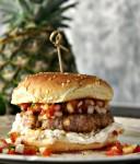 Pineapple Salsa Burger | Dixie Chik Cooks