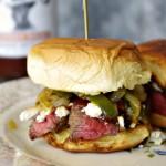BBQ Steak Blue Cheese Sliders