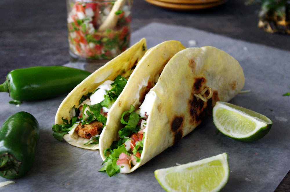 Pork Tacos with Pineapple Guacamole