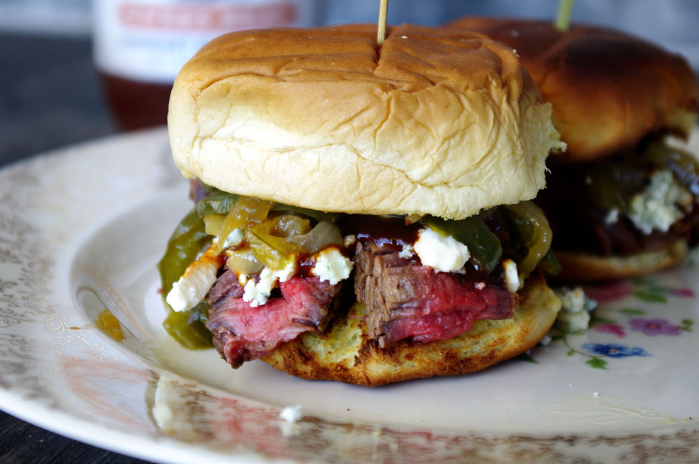 BBQ Steak Blue Cheese Sliders