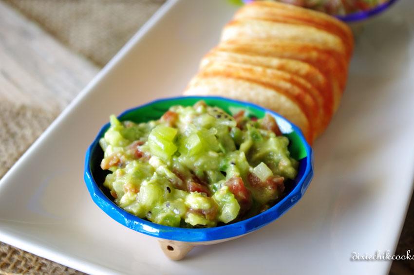 Avocado Toasties With Kiwi Salsa And Bacon Recipe — Dishmaps