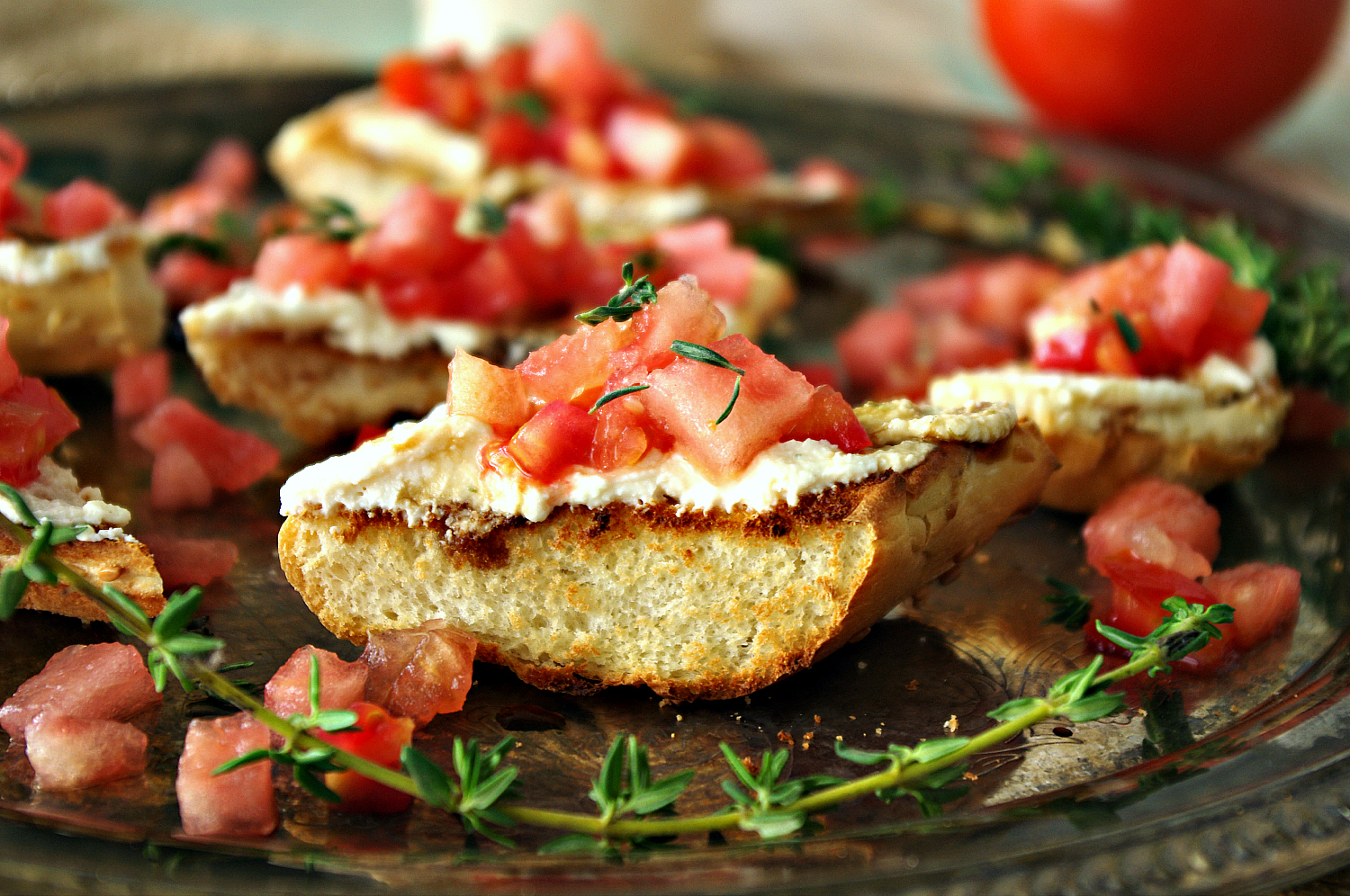 Watermelon Bruschetta | Dixie Chik Cooks