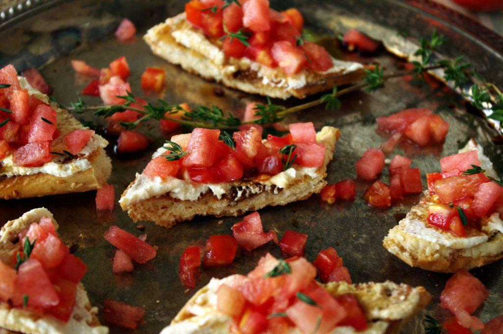 Watermelon Jalapeno Bruschetta | Dixie Chik Cooks