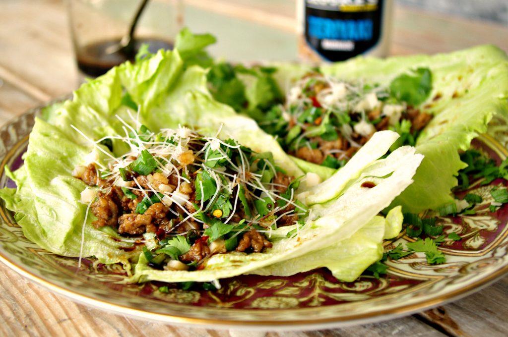 Teriyaki Chicken Lettuce Wraps   Dixie Chik Cooks