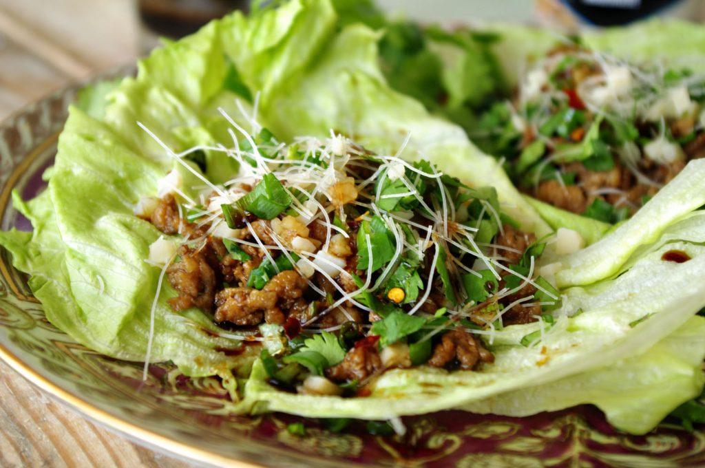 Teriyaki Chicken Lettuce Wraps | Dixie Chik Cooks
