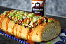 Buffalo Cheeseburger Stuffed French Bread | Dixie Chik Cooks