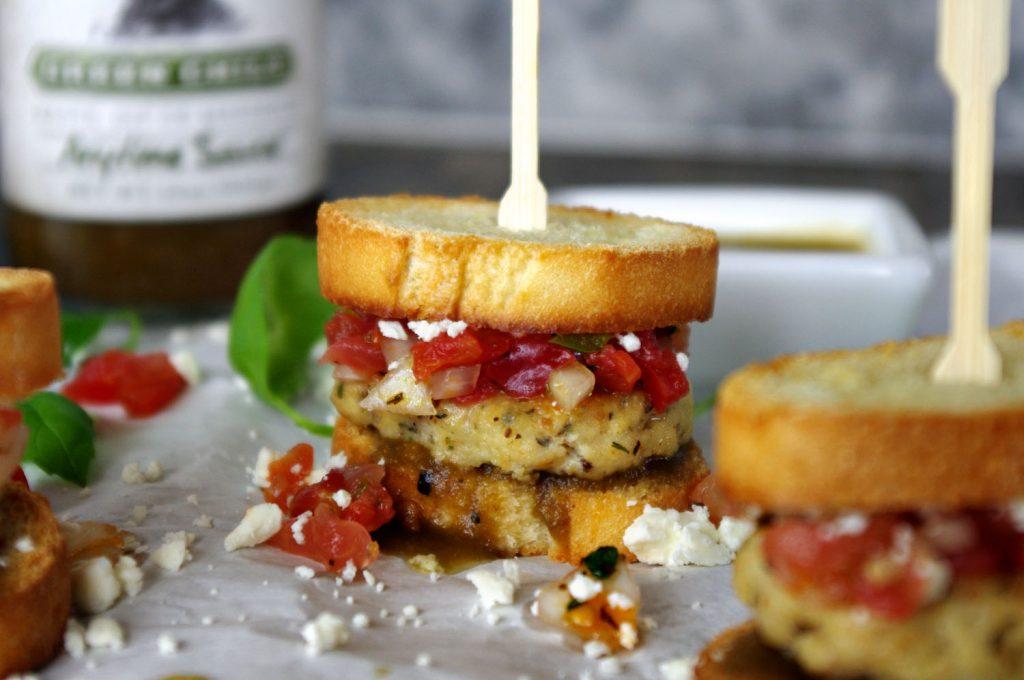 Tilapia Mini Sliders with Watermelon Salsa and Feta | Dixie Chik Cooks