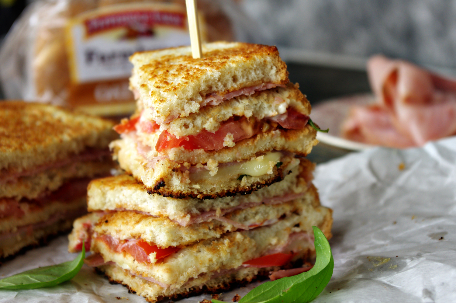 Caprese Ham Grilled Cheese | Dixie Chik Cooks