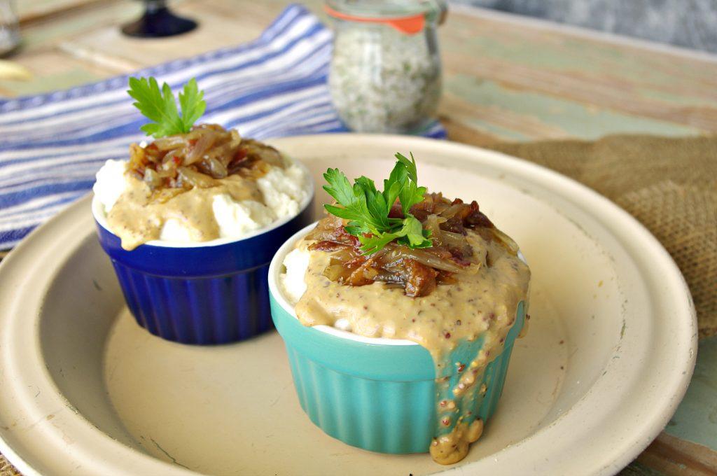 Mashed Cauliflower with Dijon Gravy   Dixie Chik Cooks