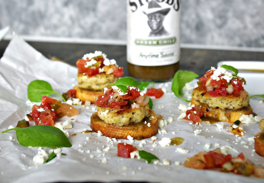 Tilapia Mini Sliders with Watermelon Salsa and Feta