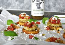 Tilapia Mini Sliders with Watermelon Salsa and Feta