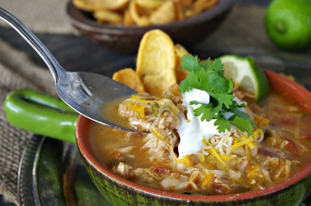 Salsa Verde Lime Chicken Chili