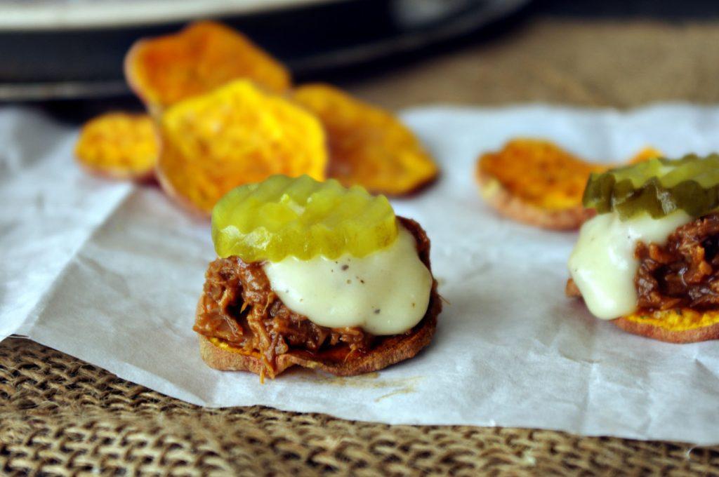 Sweet Potato BBQ Blue Cheese Sliders