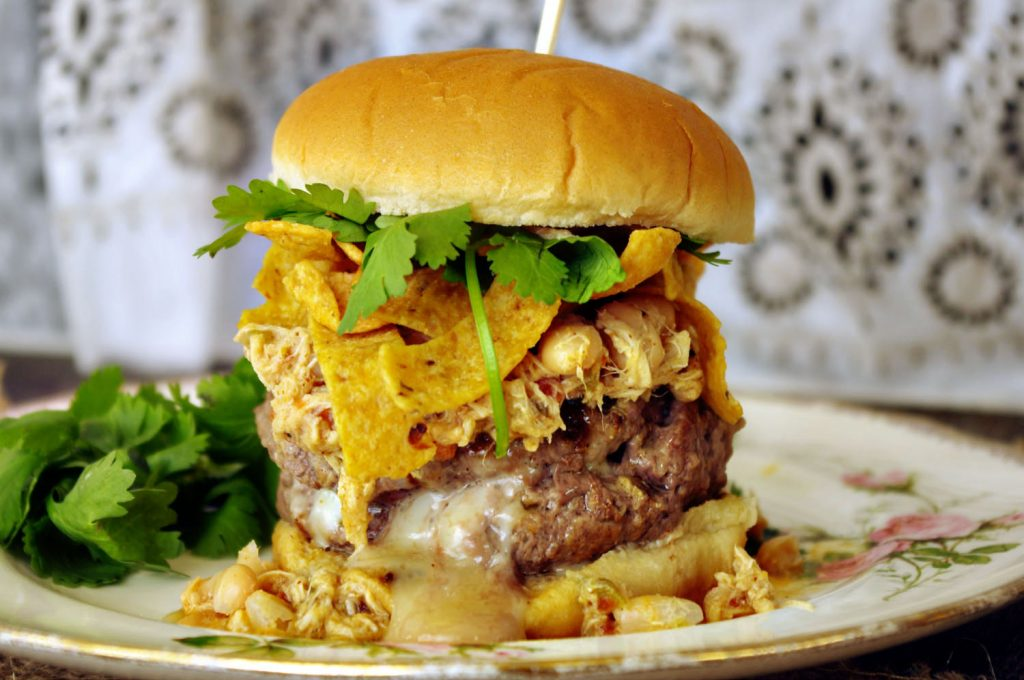 White Chicken Chili Burger