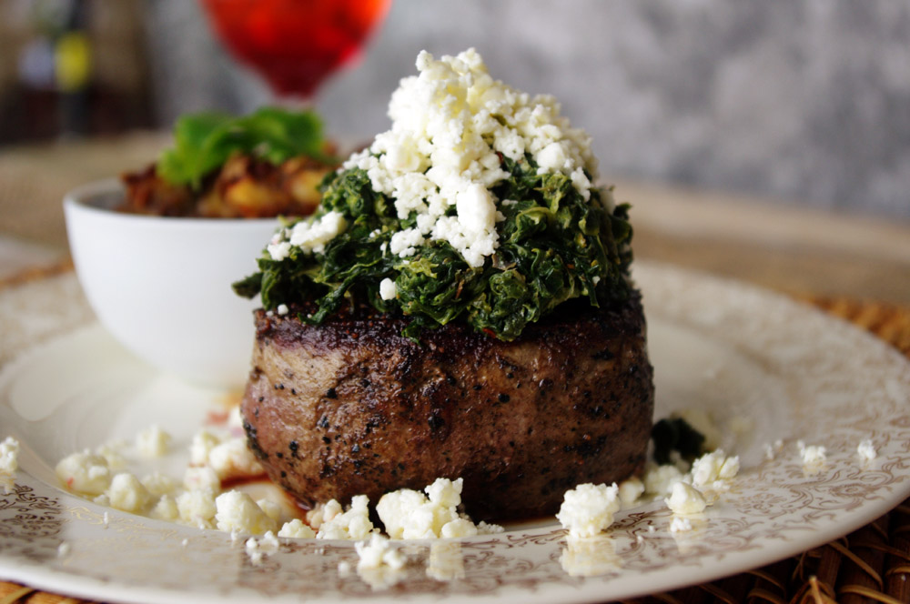 Feta Spinach Filet Mignon